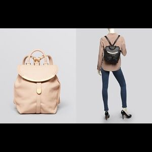 Pink Beige See By Chloe Lizzie Leather Backpack